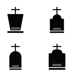 grave icon set vector image