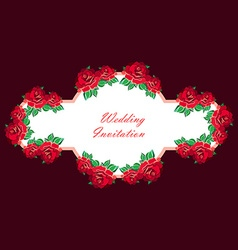 Hand Drawn Wedding Rose Banner vector image