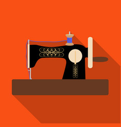 hand sewing machine sewing and equipment single vector image