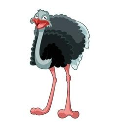 Happy cartoon ostrich vector