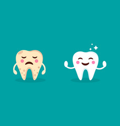 healthy smiling teeth with shining stars crying vector image