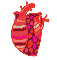 Heart pop art vector