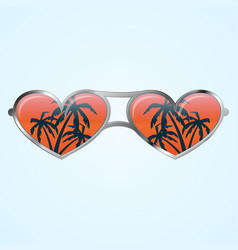 Heart shape glasses vector