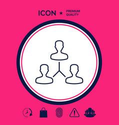 human connection symbol line icon vector image