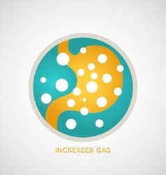 Increased gas poster vector