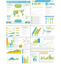 INFOGRAPHIC DEMOGRAPHICS POPULATION SPECIAL vector image