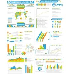 INFOGRAPHIC DEMOGRAPHICS POPULATION SPECIAL vector