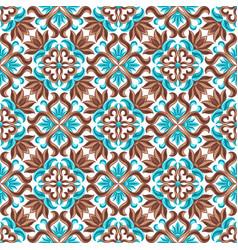 italian ceramic tile seamless pattern vector image