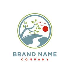 logo design trips to mountain vector image