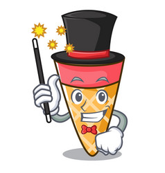 Magician ice cream tone mascot cartoon vector