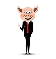 Man with pig head vector