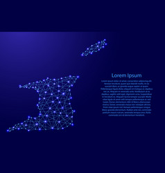 Map of trinidad and tobago from polygonal blue vector