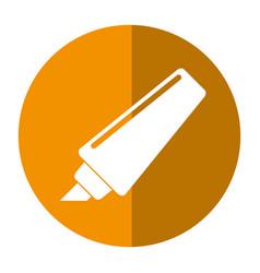 Marker write school utensil shadow vector