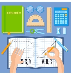 Mathematics flat vector