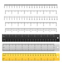 Measuring rulers school ruler metric scale vector