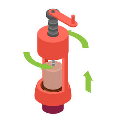 mechanical corkscrew icon isometric style vector image