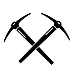 Mining pickaxe icon simple style vector