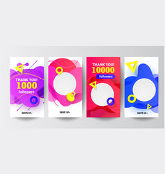 modern social networks follow us banner set with vector image