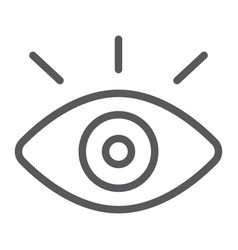 monitoring line icon security and eye vision vector image