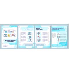 Natural language processing brochure template vector