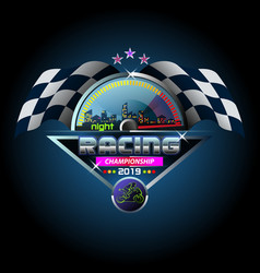 night racing championship vector image