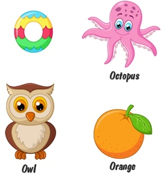 O alphabet vector image