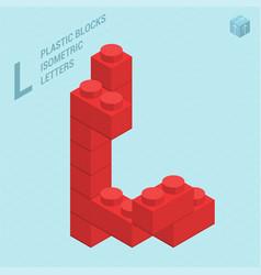 plastic blocs letter l vector image