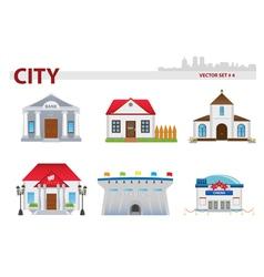 Public building Set 4 vector image