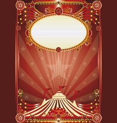 Red magic circus background vector
