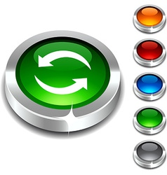 Refresh 3d button vector image