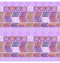 Seamless ethnic purple pattern vector image