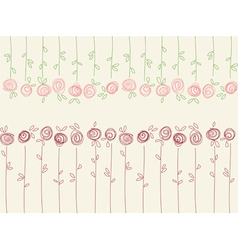 Seamless floral pattern with abstract roses vector image