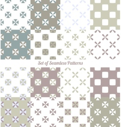 Seamless ornaments vector