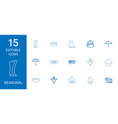 seasonal icons vector image