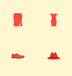 set of garment icons flat style symbols with vector image
