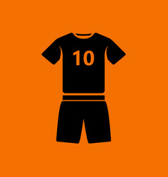 Soccer uniform icon vector