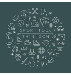 Sport thin icons eps10 format vector image