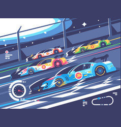 Sports car competitions vector