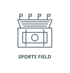 sports field line icon linear concept vector image
