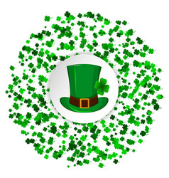 st patricks day greeting card circle made of four vector image