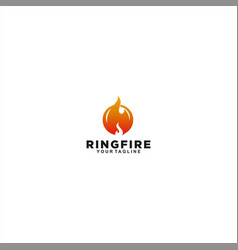 stamp ring fire logo design template vector image