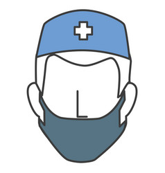 surgeon avatar character icon vector image