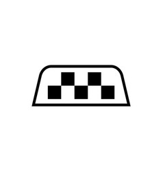 Taxi sign on taxi roof chequered pattern as a vector