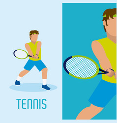 Tennis player cartoon vector