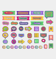 to do stickers planner sticky paper organizer vector image