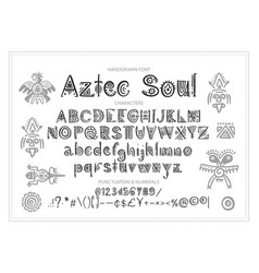 tribal aztec alphabet vector image