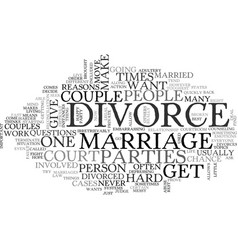 What is a divorce text word cloud concept vector