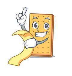 With menu graham cookies mascot cartoon vector