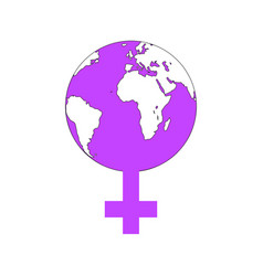 World women icon for womens activism vector
