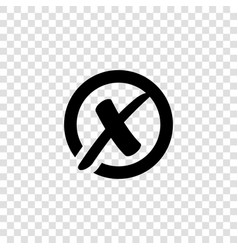 x cross mark in circle icon rejected sign vector image